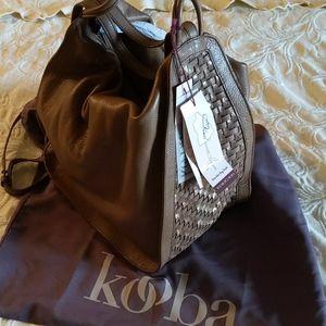 Shoulder leather bag/Calabasas backback